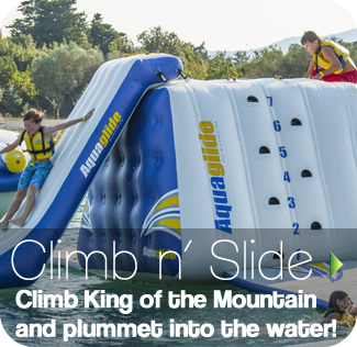 King of the Mountain - Aqua Splash, safe fun in the water for all the family